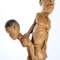 Isaac Nkululeko Makeleni  - Together Forever.  Yellowwood, polish, 104 x 54 x 18 cm, late 1980s/early 1990s (Collection: M. Pissarra. Photo: C. Beyer