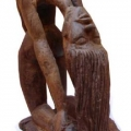 Isaac Nkululeko Makeleni - Dancer. Wood (Collection: Private. Photo: Cape Gallery)