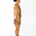 Isaac Nkululeko Makeleni - Inyanga (side view). Wood, 96 x 22 x 15 cm, late 1980s (Collection: private, Cape Town. Photo: C. Beyer