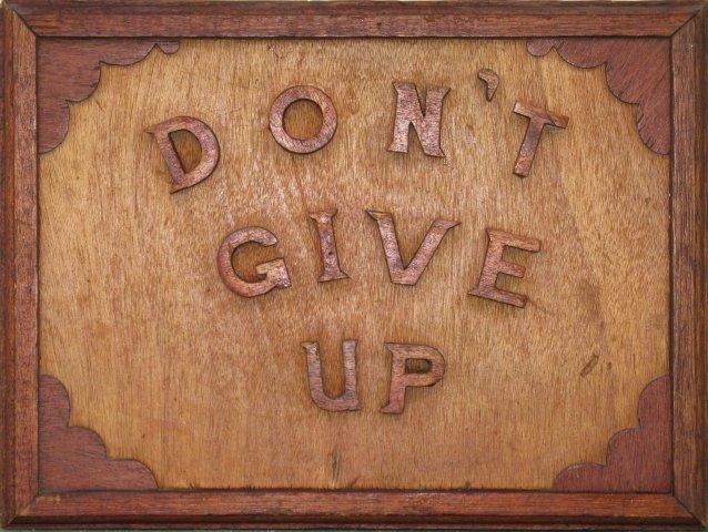 Isaac Nkululeko Makeleni - Don?t Give Up. Wood (Collection: M. Makeleni. Photo: MP)