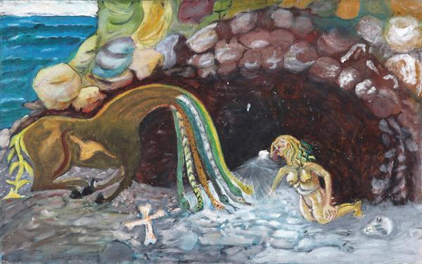 Isaac Nkululeko Makeleni - Seven Vices. 80 x 50 cm, c. 2005 (Collection: M. Makeleni. Photo: C. Beyer