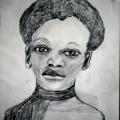 Isaac Nkululeko Makeleni - Untitled. Drawing, 1992 (Presumed lost. Photo: MP)