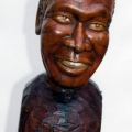 Isaac Nkululeko Makeleni - Albert Luthuli (Nobel laureate series). Wood, 33.5 cm (h), 2007 (Collection: M. Makeleni. Photo: MP)
