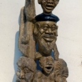 Isaac Nkululeko Makeleni - Sam Nujoma and Company. Yellowwood, 91.5 x 51 x 24.5 cm, 1992 (Whereabouts unknown. Photo: MP)