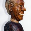 Isaac Nkululeko Makeleni - Desmond Tutu (Nobel laureate series). Wood, 37 cm (h), 2007 (Collection: M. Makeleni. Photo: MP)