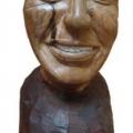 Isaac Nkululeko Makeleni  - F.W. de Klerk (Nobel laureate series). Wood, 35 cm (h), 2007 (Collection: M. Makeleni. Photo: Cape Gallery)