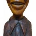 Isaac Nkululeko Makeleni - Nelson Mandela (Nobel laureate series). Wood, 2007 (Collection: M. Makeleni. Photo: Cape Gallery)