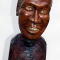 Isaac Nkululeko Makeleni  - Albert Luthuli (Nobel laureate series). Wood, 33.5 cm (h), 2007 (Collection: M. Makeleni. Photo: MP)