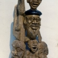 Isaac Nkululeko Makeleni  - Sam Nujoma and Company. Yellowwood, 91.5 x 51 x 24.5 cm, 1992 (Whereabouts unknown. Photo: MP)