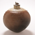 <em>Bushpig Jar II</em>, 2006. Smoked terracotta, 25 x 22 cm (Image courtesy of DAG)