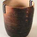 <em>Beaded vessel</em>, 2012. Smoked terracotta and beads, 17.2 x 16.4 cm (Image courtesy of DAG)