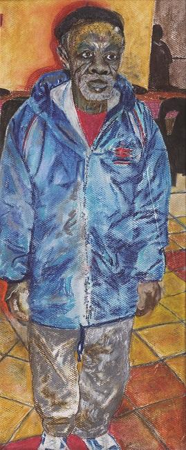 <em>Ankela (Uncle)</em>, 2013. Pastel on paper, 72.5 x 30 cm (Image courtesy of DAG)