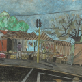 <em>Top Rank Market, Clermont</em>, 2010. Pastel on paper, 44 x 66 cm (Image courtesy of DAG)