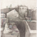 <em>The Dream</em>, 2007. Pencil and pastel with transfer on paper, 63 x 48 cm (Image courtesy of DAG)