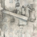 <em>Job Seekers</em>, 2006. Pencil and transfer on paper, 48 x 32 cm (Image courtesy of DAG)