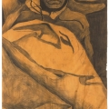 <em>Reminiscing</em>, 2012. Charcoal on paper, 110 x 59 cm (Image courtesy of DAG)