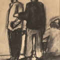 <em>Watching</em>, 1999. Charcoal on paper, 45.5 x 35.5 cm (Image courtesy of DAG)
