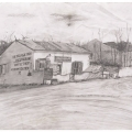 <em>The Village Inn, Nieu Bethesda</em>, 2007. Pencil on paper, 41 x 44.5 cm (Image courtesy of DAG)
