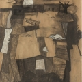 <em>Shacks in Cato Crest</em>, 2010. Charcoal and chalk on paper, 78 x 69.5 cm (Image courtesy of DAG)