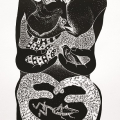 <em>Gabi Nkosi 'I am Half Human and Half Animal'</em>, 2013. Linocut, 64.7 x 48 cm (Image courtesy of DAG)