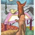 <em>Peaceful Dream</em>, 1993. Soft ground etching on paper, 50.5 x 35 cm (Image courtesy of DAG)