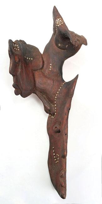 <em>Lady Africa</em>, 2012. Bluegum wood and brass tacks, 89 x 38 x 24 cm (Image courtesy of DAG)