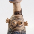 <em>Woman</em>, 1988. Smoked earthenware and painted oxides, 47 x 21 cm (Image courtesy of DAG)