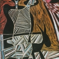<em>Lovers (Song of Msinga Series)</em>, 2012. Wood panel, 28 x 19 cm (Image courtesy of DAG)