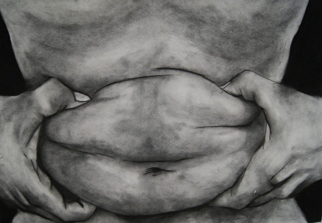 Dog of Maw, 2009. Charcoal on fabriano, 100 x 70 cm
