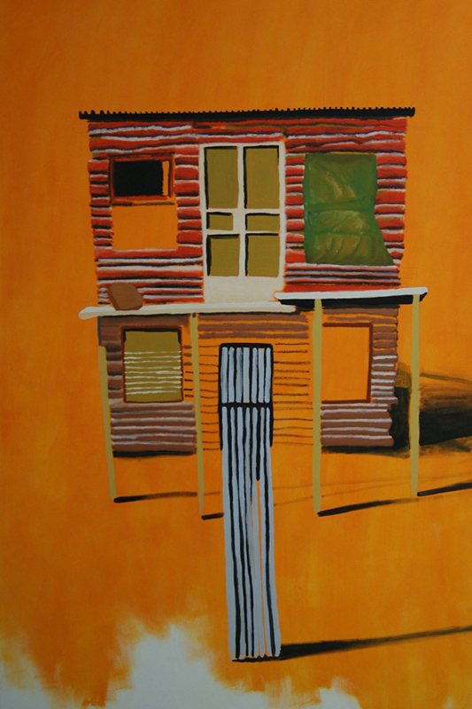 Many Mansions 4, 2010/11. Oil on canvas, 170 x 120 cm.