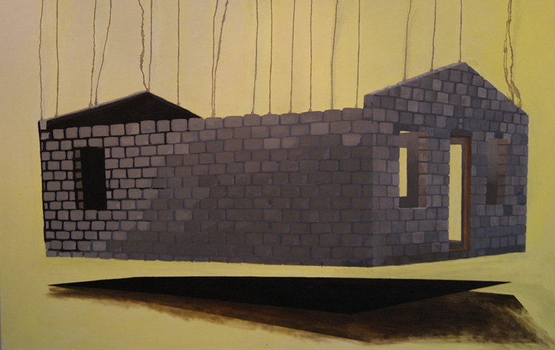 Many Mansions 3, 2010/11, Oil on canvas, 165 x 120 cm