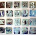 Earth crust glass wall, 2007. Mixed media. 280 x 170 cm