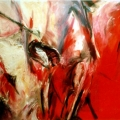 From the edge, 1996. Mixed media, 120 x 90 cm