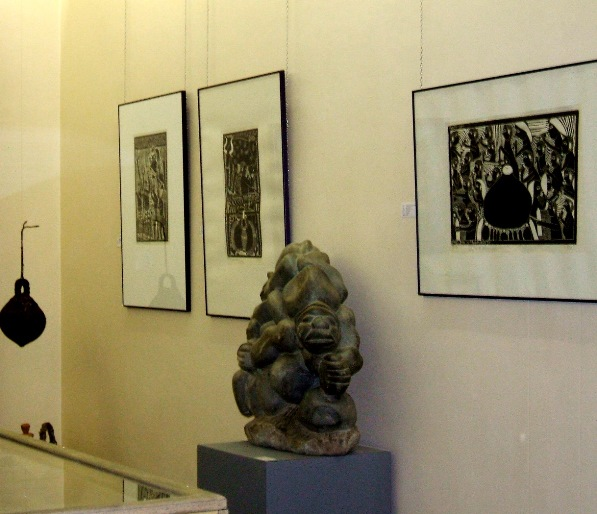 Cultural exchange - 1995 - Exhibited with works of Late Muafangejo at National Art Gallery of Namibia in 2011