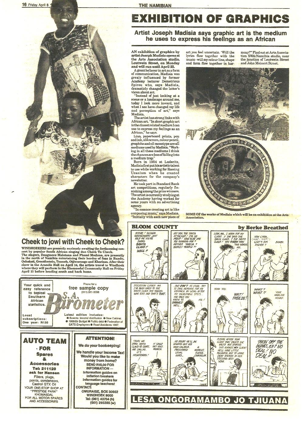 Namibian Newspaper No130 of 16 April 1988 pg.16.