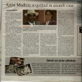 Artist Madisia acquited on charges of assault - Namibian newspaper 7 May 2014 pg 3