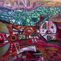 Botsotso II 2004 - Cardboard relief print