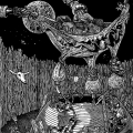 Nocturnal Cash Cow Orgy 2012 - Linocut print