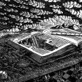 Sacred Land Matters 2013 - Linocut print