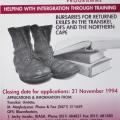 Skills training and empowerment, 1994