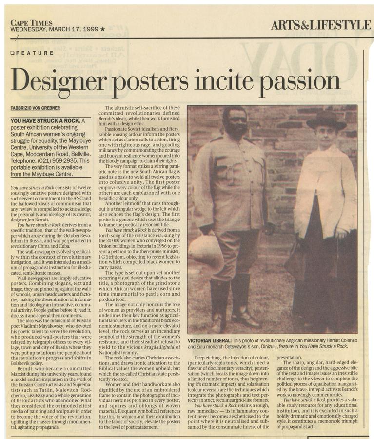 Designer posters incite passion, 1999