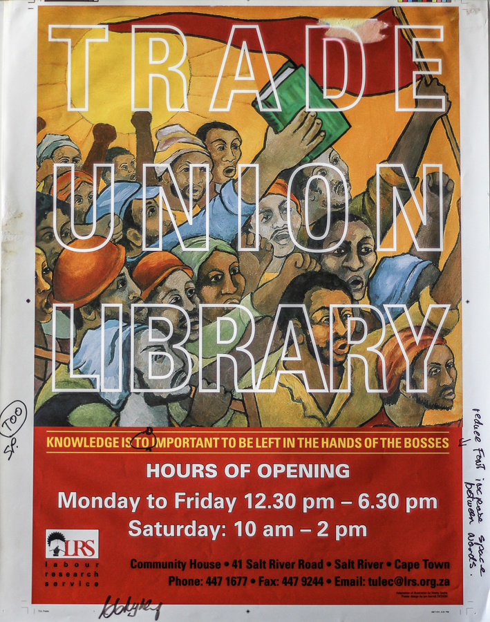 Trade Union Library poster,1993