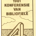 Bibliophiles Conference Pamphlet, 1981