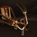 The Domain of the Healing Fairy, 2012. Wood, cloth, beads, leather, cloth, shells and found objects