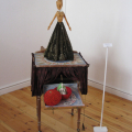 The Boudoir of the Queen, 2012. Wood, cloth, leather, beads, porcelain and found objects