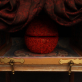 The Boudoir of the Queen - The Apple (detail), 2012. Wood, cloth and beads