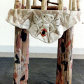 The Crone, 1991. Wood with cloth and beads