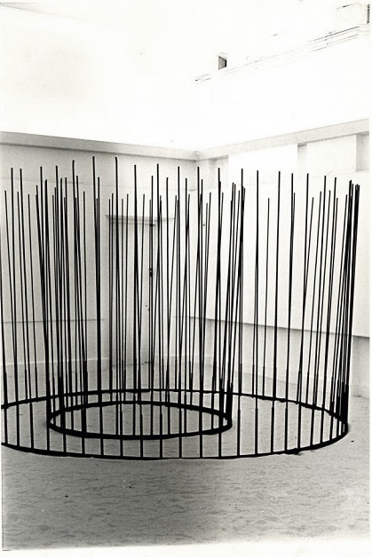 Circular Railings to Walk Through, 1976. Steel