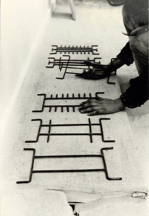 Objects for the Imagination, 1976. Plaster, hessian and steel