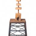 Tower I, 2013-16. Rake handle and sea shells, 57 x 193 x 57 cm